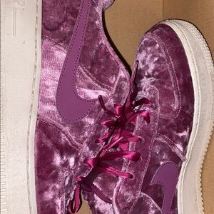 Purple suede Air Force ones for $100